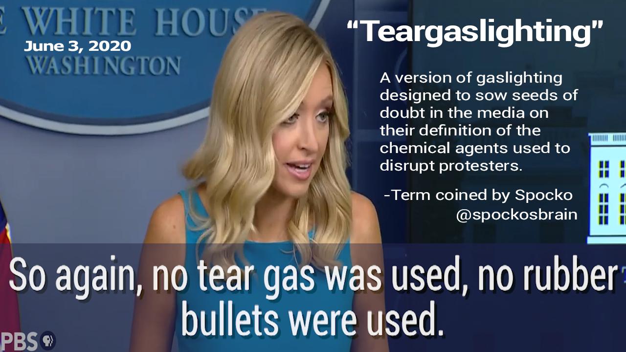 Tear gas lighting